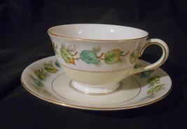 Fuji China Garland Occupied Japan Tea Cup & Saucer Fall Leaves Design - $8.00