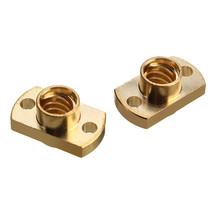 2Pcs Brass T8 Lead Screw Nut Pitch 2mm for Stepper Motor 3D Printer Part - $8.99