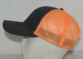 Port Authority C112 Snapback Trucker Cap Grey Steel Neon Orange image 4