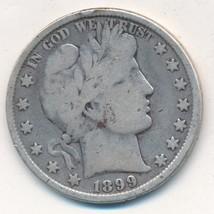 1899 BARBER SILVER HALF DOLLAR-NICE CIRCULATED BARBER HALF-SHIPS FREE! I... - $18.95