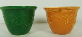 Genuine Oven Serve Ware Custard Cups Ramekins 2 1/2 high LOT 2 USA Taylo... - $16.82