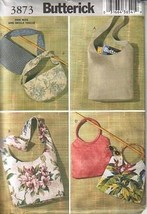 Butterick 3873 Fashion Handbags Pattern Out of Print Vintage 2003 - $8.41
