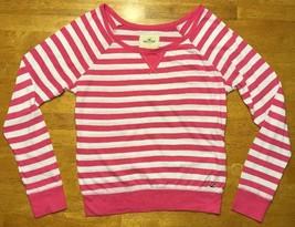 Hollister Women's Pink & White Striped Long Sleeve Shirt / Blouse - Size... - $14.84