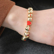 Emoji Charm Bracelet with 10 Gold Plated Charms - 1x w/Random Color and Design image 8
