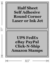 Standard Gray Shipping Labels 8.5x5.5 Half Sheet Self Adhesive eBay PayPal - $1.99+