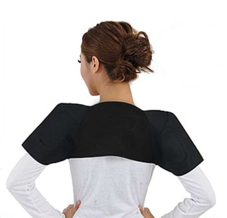 Primary image for Tourmaline Heat  Back Shoulder Posture Postural Brace Support for Pain Relief