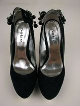 1 Black Last Jeweled 7 5 Stilhetto Ankle 7 2 Shoes Chain Quilted 1 Suede Bebe 6nw1O5qC