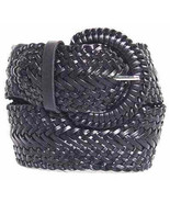 "Wide Black Braided Belt for Women Leather 3"" Cinch New Fashion Dress Cas... - $15.99"