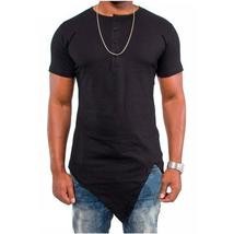 Summer Men Fashion Hip Hop T Shirt Irregular Design Swag Cotton O-Neck Tshirt Ho