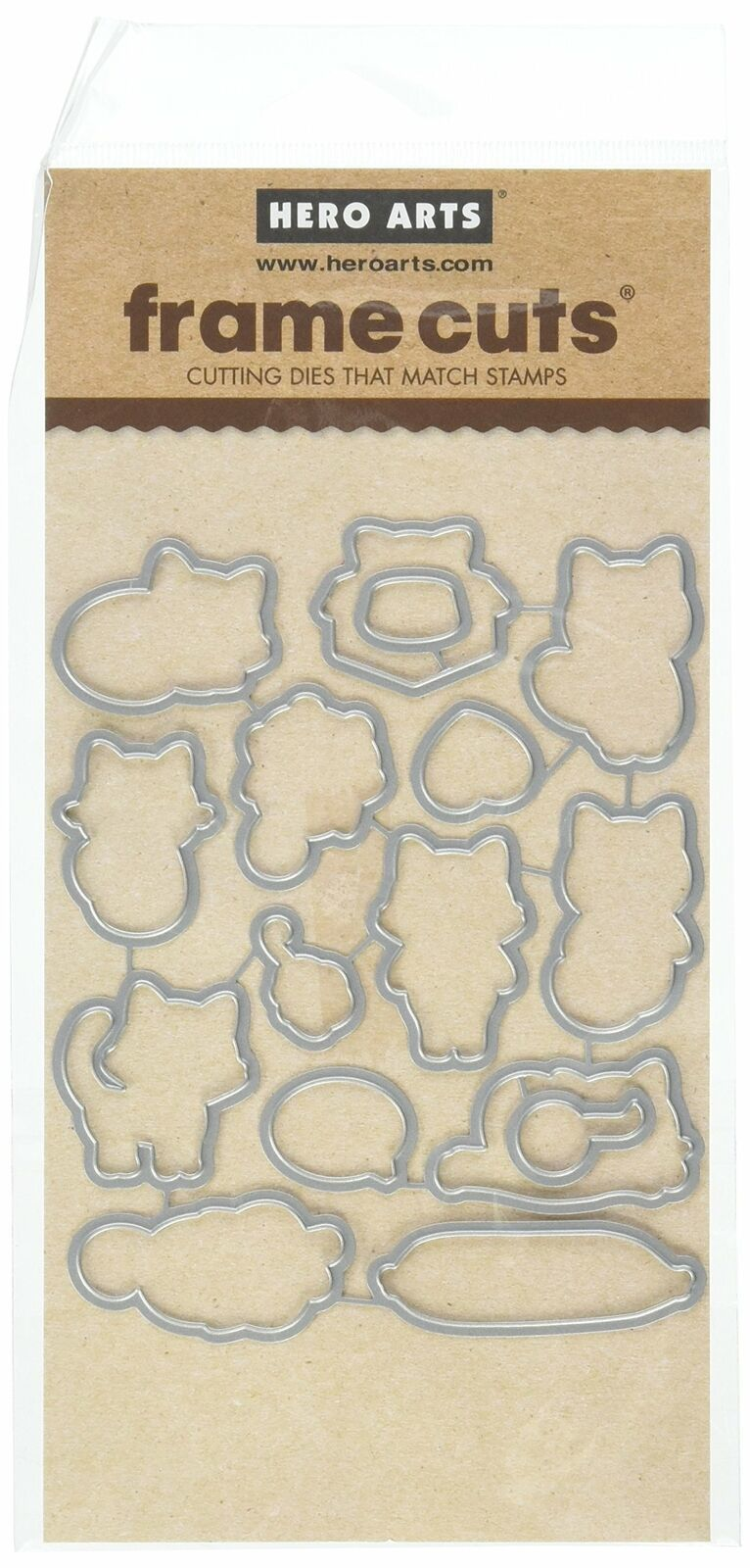 Hero Arts PURR Frame Paper Cutting Dies Cat Quality Universal compatible Kitten - $16.99