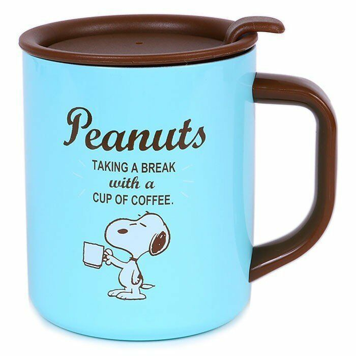 Primary image for Snoopy with lid Stainless mug cup Insulated and insulated dual use Sanrio Coffee