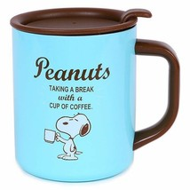 Snoopy with lid Stainless mug cup Insulated and insulated dual use Sanri... - $45.82