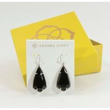 Kendra Scott Carla Black Rhodium Silver Tone Large Drop Earrings NWT - $63.86