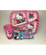 Hello Kitty PLATE,CUP AND FLATWARE SET. BRAND NEW! - $20.66