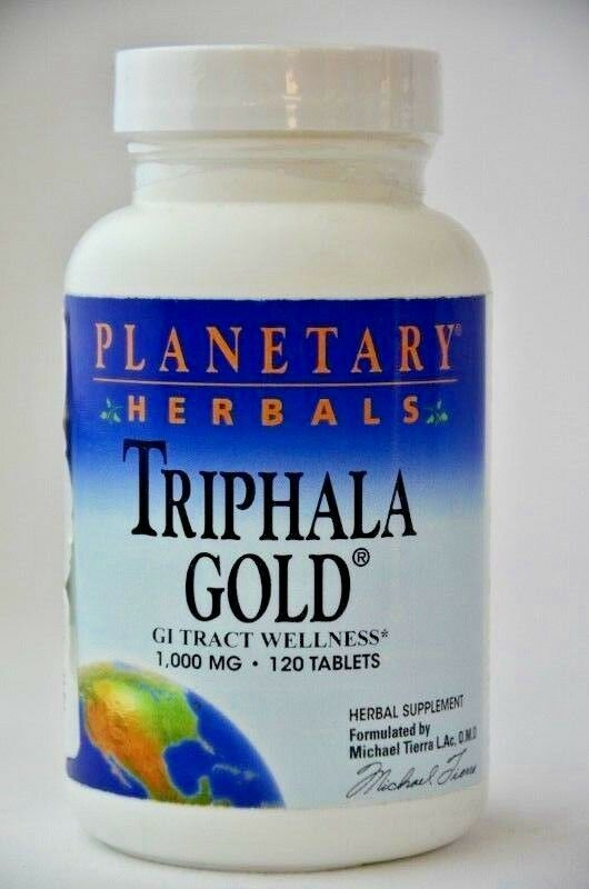 Primary image for Triphala Gold GI Tract Wellness Planetary Herbals 60 Servings NEW Sealed 8/21