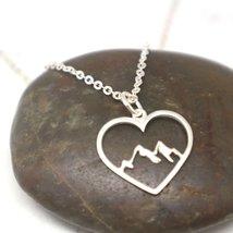 Mountain Range Heart Necklace Pendant image 6