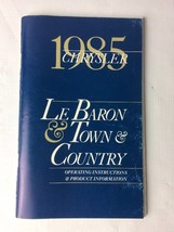 1985 Chrysler Le Baron, Town & Country Operating Instructions - $8.82