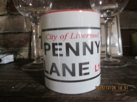 NEW BEATLES LIVERPOOL PENNY LANE or ABBEY ROAD CERAMIC MUG LENNON, MCCAR... - £10.51 GBP