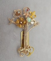 14K Gold Victorian Stick Pin Collection Brooch (#636) - $1,197.00