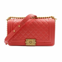 Chanel Pink Medium Caviar Calf Skin Gold Tone Hardware  Quilted Boy Bag ... - $5,000.00