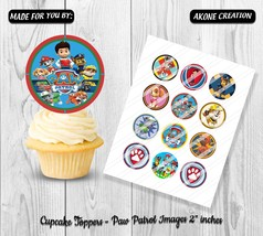 Paw Patrol Printable, Instant Download Cupcake Toppers, Party Prints | S... - $1.80
