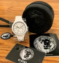 Versus Versace  Fire Island Silicone Watch White & Black VSPOQ4819 NEW - $74.24