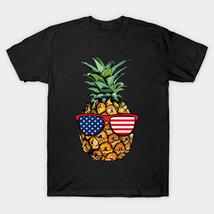American Flag Pineapple Sunglasses 4th Of July Tshirt Gifts T-Shirt - $14.99+