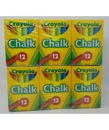 CRAYOLA CHALK  Assorted Colors - 12 Count - 51-0816 - 6 Boxes - NEW - $14.84