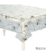 "Halloween Spider Web Design Plastic Table Cover 54"" x 108"" - $4.61"