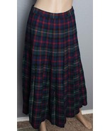 VTG Pendleton Authentic Malcolm Tartan Plaid Pleated Virgin Wool Skirt 10 - $166.24