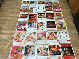 Lot of 30 1950's - 60's Campbell's Soup & Campbell's Kids Ads - $30.00