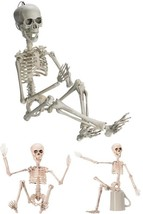 """Prextex 19"""" Posable Halloween Skeleton with Movable Joints & 2 Sets Acce... - $17.59"""