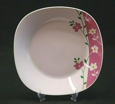 Classic Style Gibson Everyday China Square Soup Cereal Bowl Pink White F... - $14.84