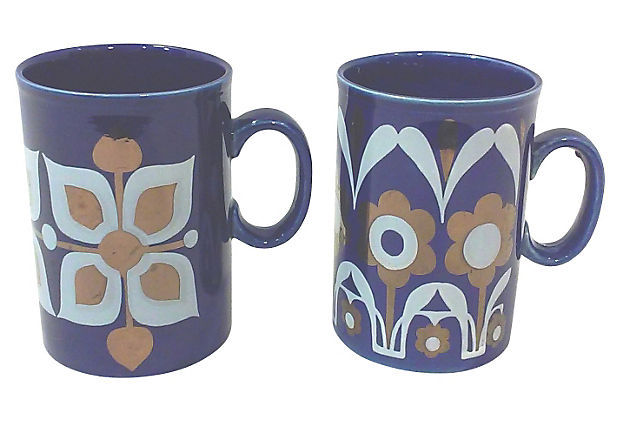 Vintage Staffordshire Mugs-A Pair - $44.00