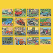 Tintin and cars set of 16 postcards booklet set image 3