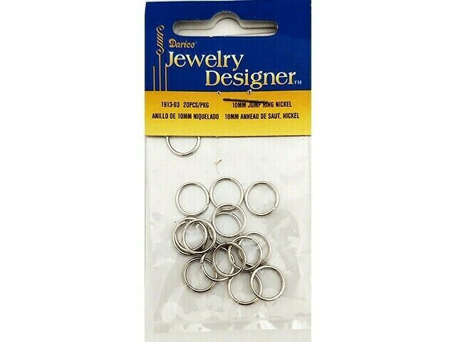 Darice Jewelry Designer 10mm Jump Rings, 20 Pieces #1913-93