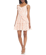 NWT MAGGY LONDON WHITE PINK COTTON RUFFLE DRESS SIZE 14 $138 - $32.91