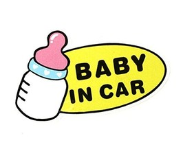 """BABY IN CAR"" Caution Car Decal Lovely Car Stickers (7.9""x5.1"")"