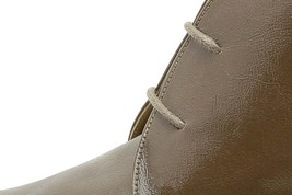 Chocolate Brown Plain Toe Lace Up Chukka Style Women Leather Ankle Boots - $129.99+