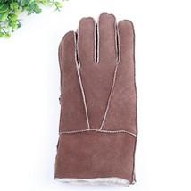 Genuine Fur Men Sheepskin Mittens Real Fur Sheep Leather Male Winter Gloves - $414,30 MXN