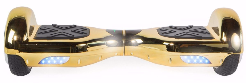 Chrome Gold Extreme Bluetooth 6.5 Hoverboard Two Wheel Balance Scooter UL