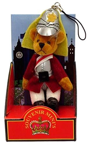 Primary image for Teddy bear mobile phone charm bag charm London souvenir Guardsman