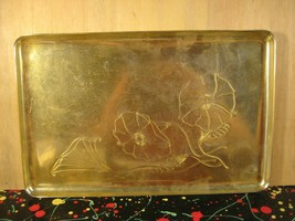 Neocraft by Everlast Yellow/Gold Anodized Aluminum Floral Tray or Platter - $9.25