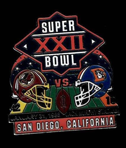 Primary image for Redskins vs. Broncos Super Bowl 22 Final Score Pin Willabee & Ward SB XXII
