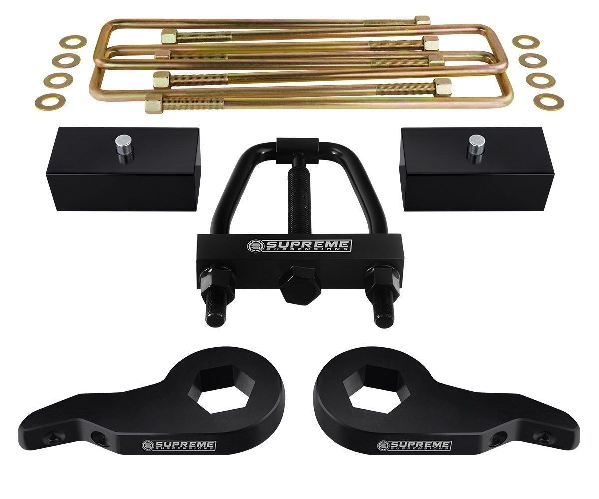 "For 88-99 Level Lift Kit 3"" + 1"" Chevy K3500 4X4 + Torsion Tool"