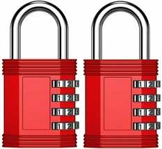 ZHEGE Combination Lock, 4 Digit Outdoor Padlock for Gym, School, Fence, & More