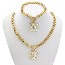 Stainless Steel Gold Necklace Fashion Jewelry Set For Women