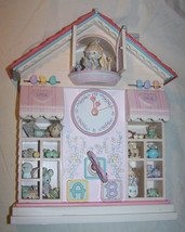 Boxed Enesco Precious Moments Toyland Illuminated Musical Action Clock-1991 - $80.00