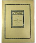 Carl Fischers Music Library No.382 RODE Concerto No 7 Violin Piano Sheet... - $12.51
