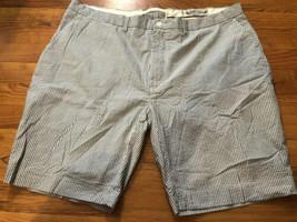 Polo by Ralph Lauren Sz 42 Striped Summer Blend Cloth Seersucker Tailored Shorts - $23.75